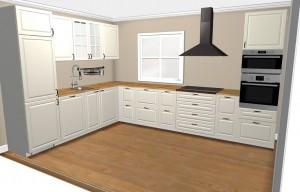 Unsere bestellte Küche in der 3D-Planung