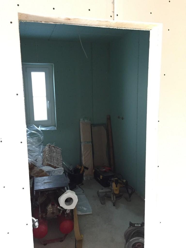 Das fertig beplankte WC (05.07.2015)