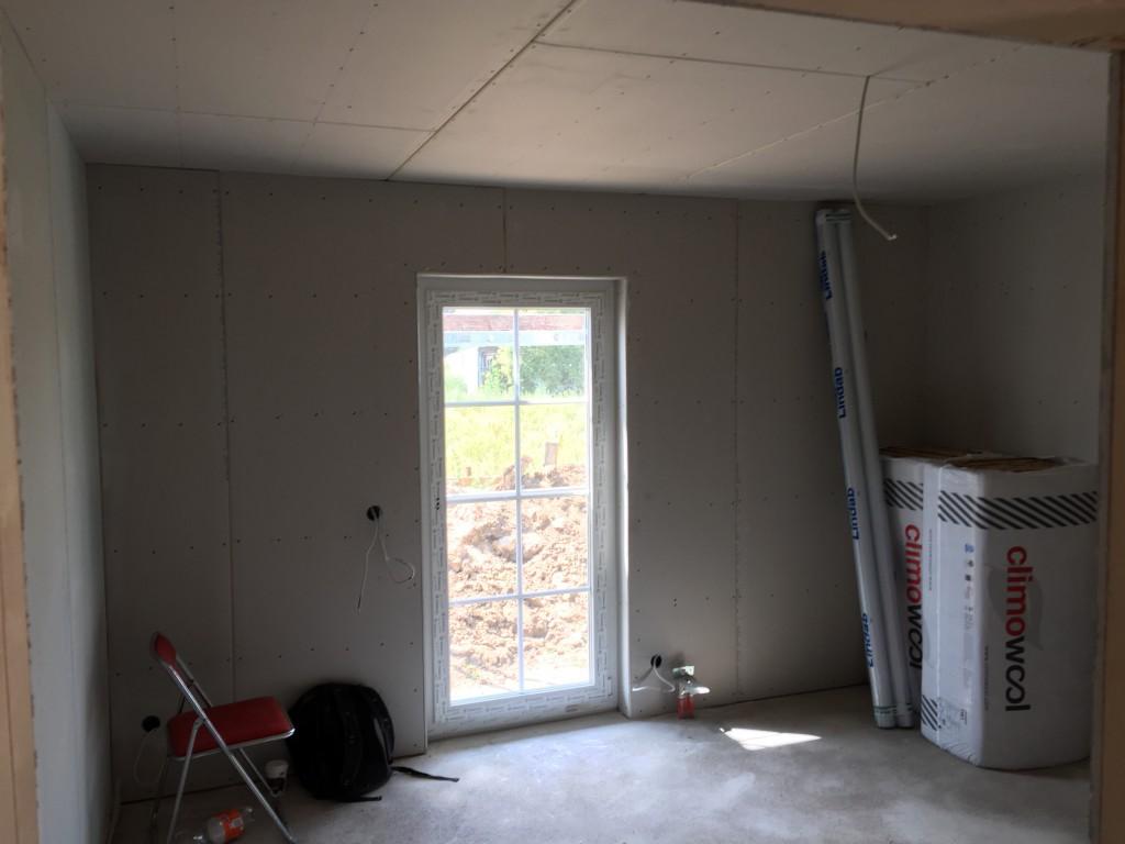 Das fertig beplankte Arbeitszimmer (05.07.2015)